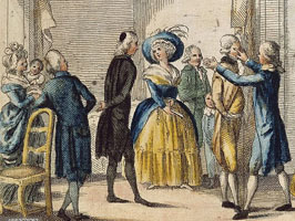Pintura salón de baile siglo XVIII
