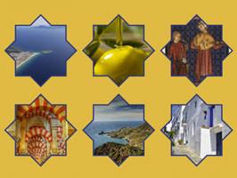 Collage cultura española y árabe